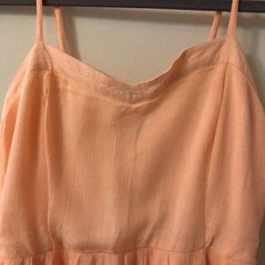 Charlotte Russe Dresses - Fade orange high-low dress